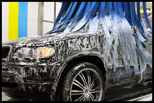 Image result for car in a carwash images