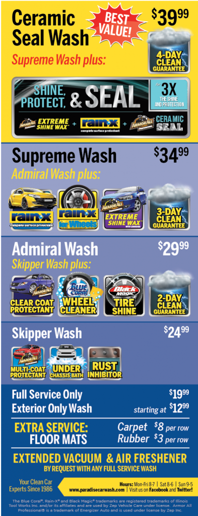 Full Service Wash Packages